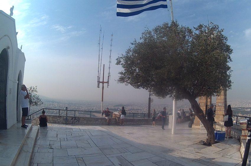 אתונה תצפית מגבעת ליקאבטוס