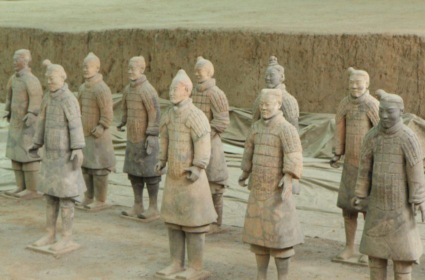 סין רחבת מערת חיילי הטרקוטה